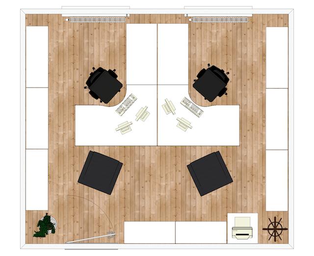 maquette-2d-bureaux-entreprise-vue-de-haut